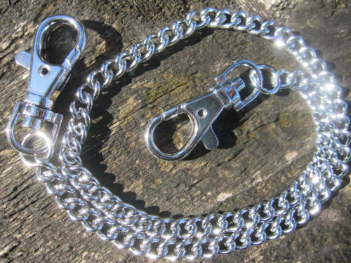 2 x Kette Messerkette Schlüsselkette aus Metall chrom 45cm Messer Schlüssel HA