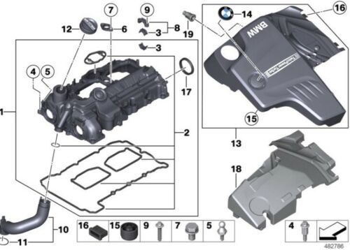 BMW N20,N26 Engine Valve Cover Bolts Kit F35,F30,F20,F10,X1,X3 Gasket