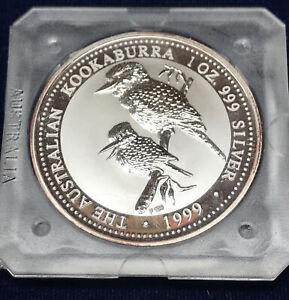 1999-Australia-Kookaburra-In-Original-Square-Capsule-1-Ounce-999-Silver-Coin
