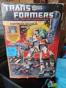 Transformers G1 1987 Forteresse Maximus Cerebros Spike, dans la boîte inutilisée!   Menthe!   100%