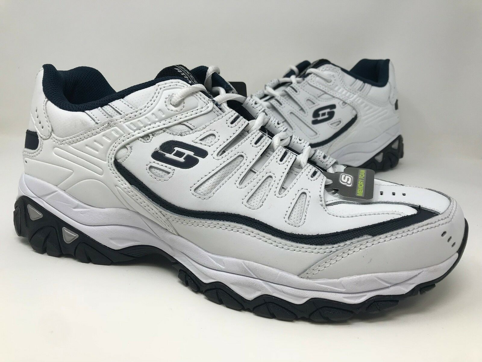 New! Men Skechers 50127 After Burn Reprint Trainers Price reduction WHT E27 Seasonal clearance sale