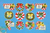 Cross Stitch Kit Design Works 12 Candy Cane & Wreaths Ornaments Pc Dw1659
