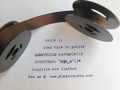 Free Shipping Smith Corona Sterling Silent Purple Ink Typewriter Ribbon