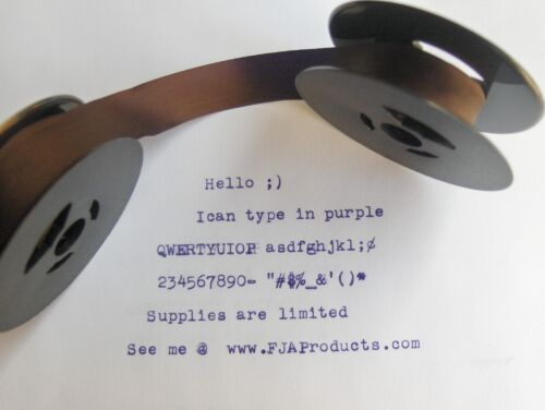 Sears Medalist Purple Ink Typewriter Ribbon Free Shipping