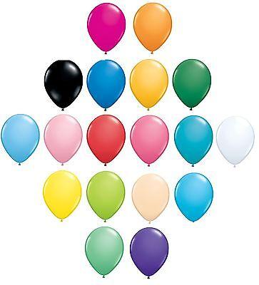 6er Pack Qualatex Latex Luftballons - Standard Mode Farben Alle Größen (Helium)