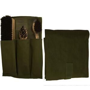 Dutch-Army-SHOE-POLISH-KIT-Original-Military-Leather-Boot-Canvas-Bag-Brush-Set