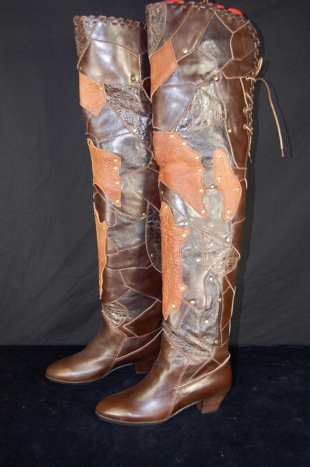 Super Super Super Sexy    Jeffrey Campbell cuero por encima de la rodilla botas talla 6  servicio honesto