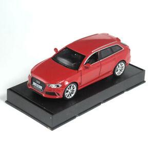 AUDI-RS6-Quattro-Coche-Modelo-Escala-1-32-Diecast-Metal-Regalo-Juguete-Vehiculo-Ninos-Rojo