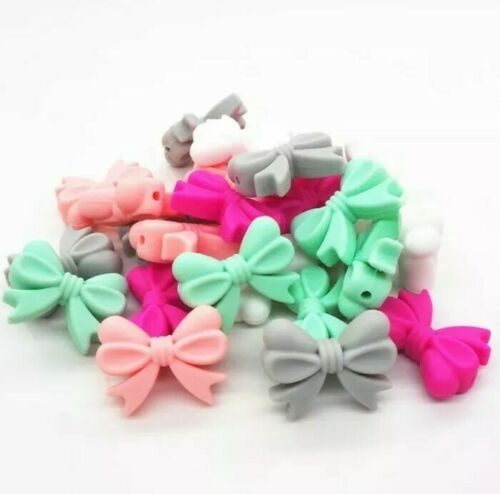 4 PC Baby Soft Rubber gel Rosette Silicone Bead