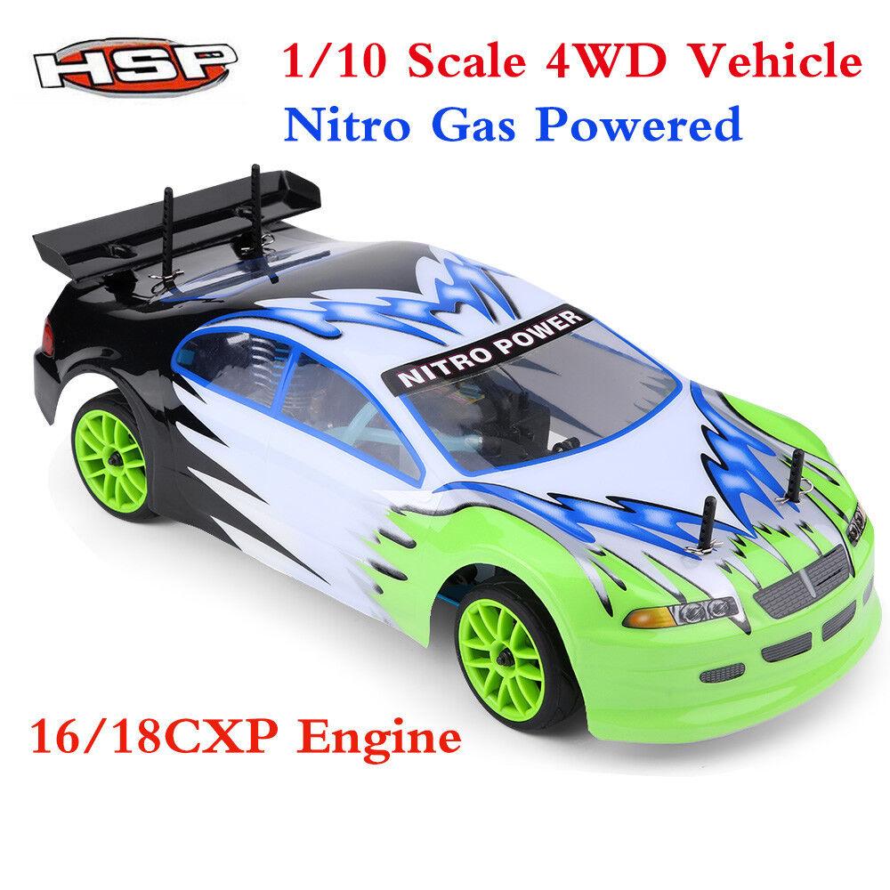 HSP 94102 SCALA 1/10 4x4 nitro alimentato da Strada Auto Da Corsa Motore 16/18CXP