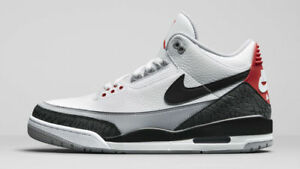 275b5dbac700b4 Nike Air Jordan 3 Retro Tinker NRG SZ 11 White Fire Red Cement OG ...