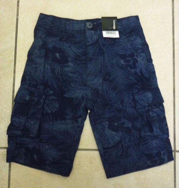 best sneakers get online new photos George Asda Kids Cotton Print Cargo Shorts 7-8 Years Navy UK FREEPOST