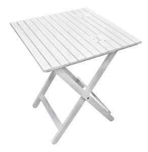 Table pliante de jardin bois d\'acacia bar haute fête camping | eBay