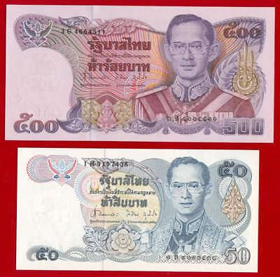 1992 THAILAND 100,500,1000 BAHT SERIES 14 P-92//97//103 KING RAMA IX BANKNOTE UNC