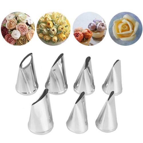 """7pcs//set Gâteau Décoration Tips Crème Givrage Piping Rose Tulipe /""""Buse Pâtisserie Outil"""