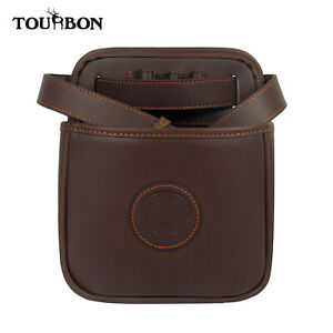 Tourbon-Shotgun-Ammo-Pouch-Cartridge-Bag-Holder-Waistband-Strap-Leather-Hunting