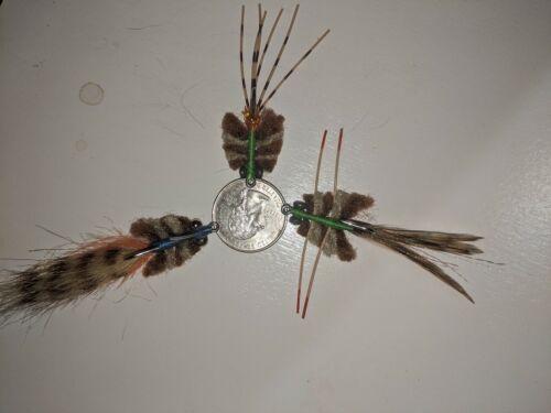 Redfish permit bonefish saltwater fly 3 flies #2 crab /& merkwan fly assortment