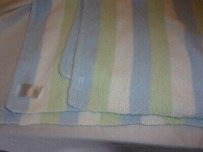 Carters Baby Blanket Lovey Blue Green