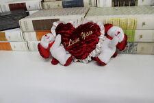 Peluche cagnolini con cuore -I love you -Heart dog peluche cm 22x10