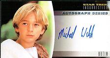 STAR TREK INSURRECTION AUTOGRAPH CARD A16 MICHAEL WELCH