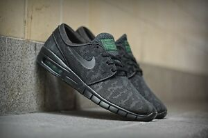 Image is loading Nike-SB-Stefan-Janoski-Max-Black-Pine-Green-