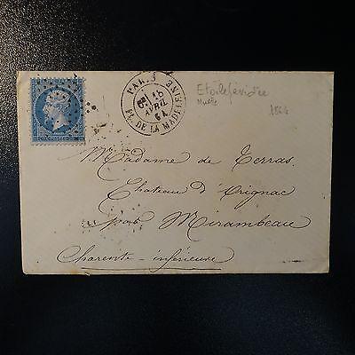 Beminnelijk France NapolÉon N°22 Lettre Cover Etoile ÉvidÉ + Cad Pl. De La Madeleine Paris