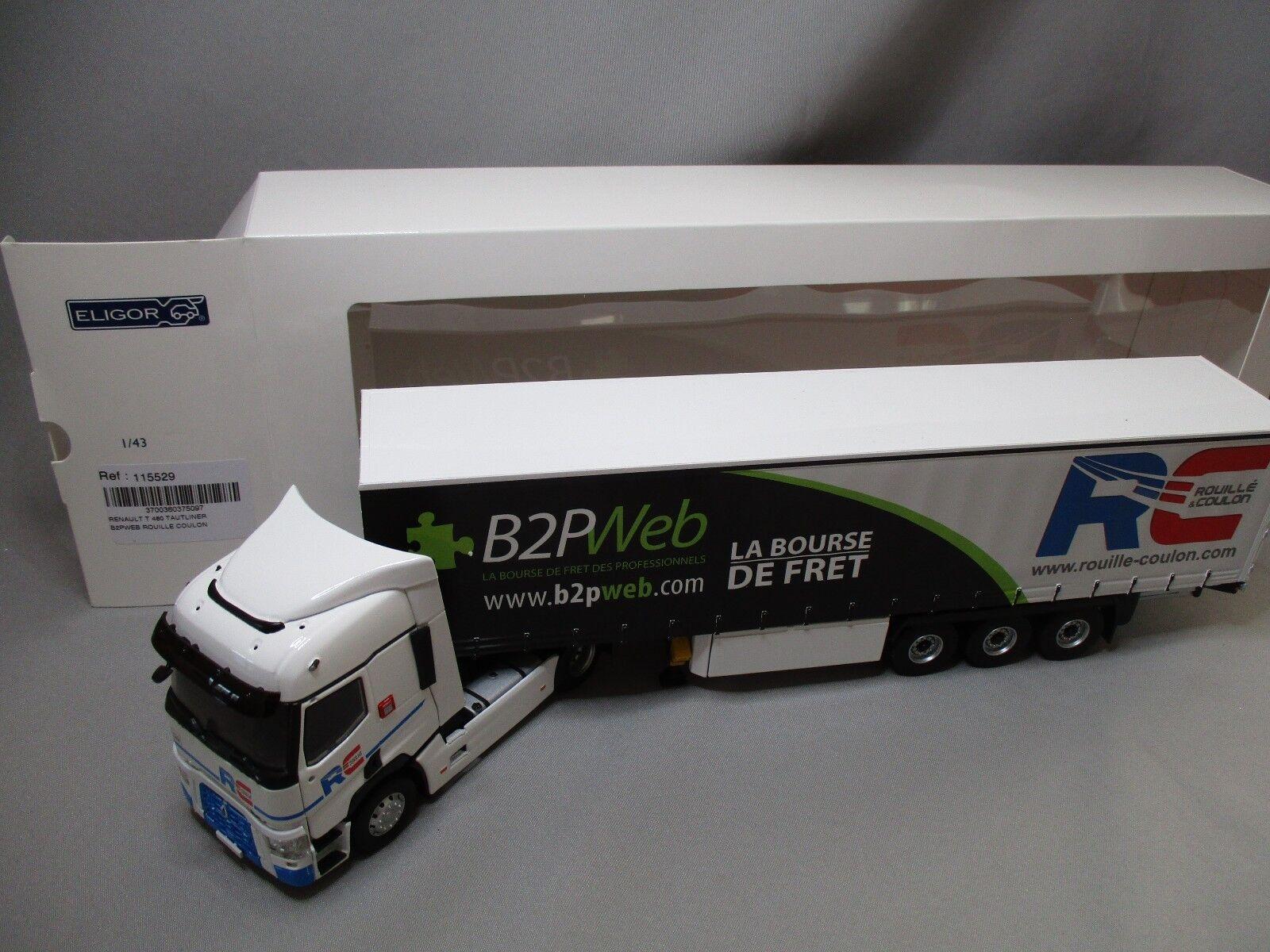 DV8184 ELIGOR 1/43 RENAULT T460 SEMI TAUTLINER TPS TPS TPS B2PWeb ROUILLE COULON 115529 f17a77