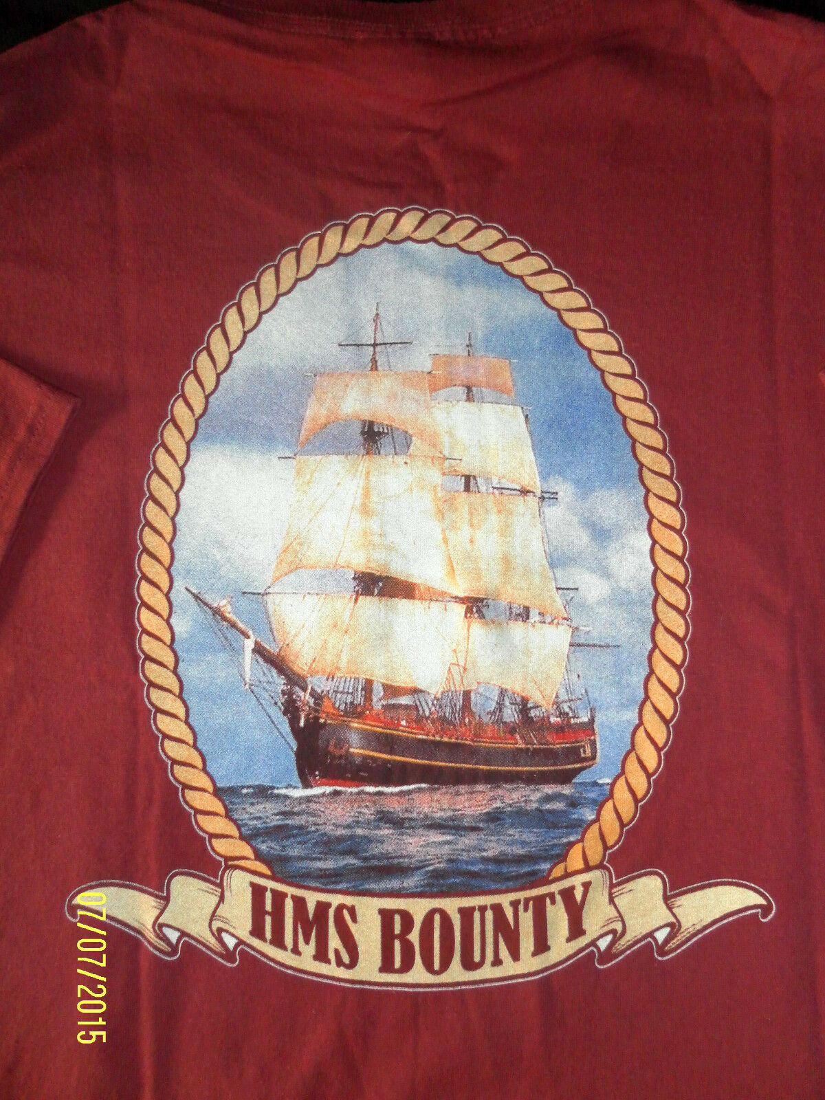 HMS Bounty T-Shirt 50 Years of History Original von der Bounty-Gr:XL-Rot-NEU
