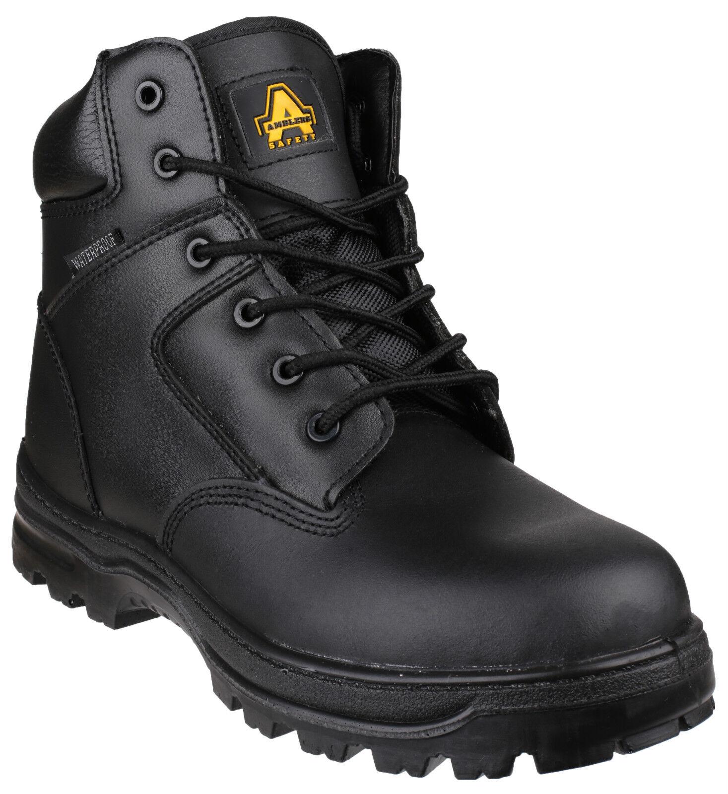 Amblers FS006C Waterproof Safety Mens Black Composite Toe Cap Boots shoes UK4-14