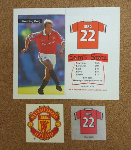 Sam SPLATZ de football//tatouages temporaires Manchester United-Divers Acteurs