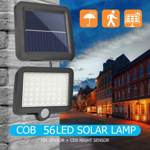 2X LED Solar Powered PIR Motion Sensor Outdoor Garden Light Security Flood Lamp