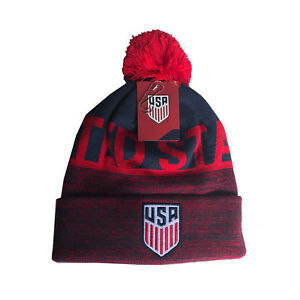 b0896bfe34c03b US Soccer Beanie Soccer USA Logo Gorro Gorra Pom Knit Hat Cap Hat 4 ...