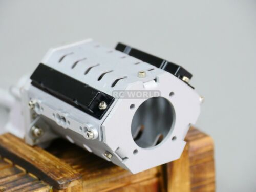 For Axial SCX-10II Metal 2 SPEED Gearbox TRANSMISSION  V8 Engine Cover Aluminum