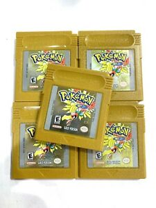 AUTHENTIC Pokemon Gold Version Nintendo GameBoy Color GAME w/ New Save Battery!