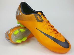85cc05233edc Nike Mens Rare Mercurial Miracle ll FG 442047 800 Orange Cleats ...
