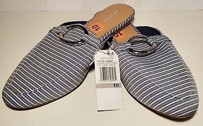 New Women's Nautica Aumora Blue Stripes slip on shoes with ...
