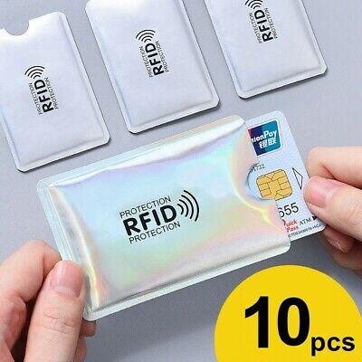RFID Sleeve Debit//Credit Card Protector Contactless Blocking Wallet Holder Bank