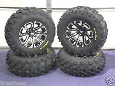 "HONDA FOREMAN 500 25"" BEAR CLAW ATV TIRE & ATV WHEEL KIT LIFETIME WARRANTY SS3"