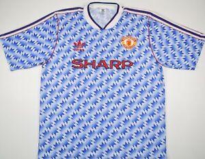 1990-1992 MANCHESTER UNITED ADIDAS AWAY FOOTBALL SHIRT (SIZE L)