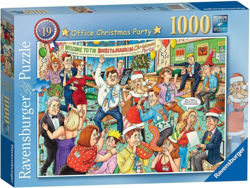 RAVENSBURGER PUZZLE*1000 T*BEST OF BRITISH 19*OFFICE CHRISTMAS PARTY*RARITÄT*OVP