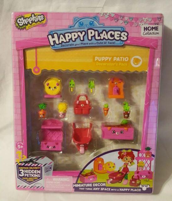 Happy Places  Shopkins Puppy Patio Decorator Pack