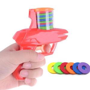 Children-Flying-Saucer-Gun-EVA-Soft-Bullet-Party-Kids-Outdoor-Toys-Xmas-Gift-zP