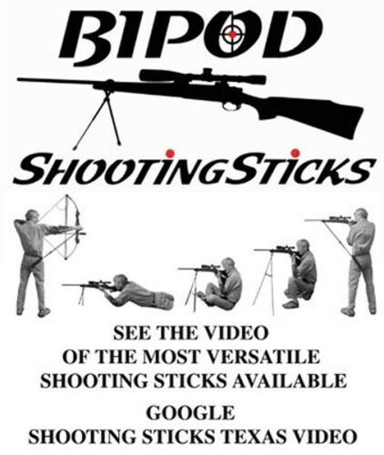 Bipode Shooting sticks pour fusil, pistolet, fusil, Bow *** comprend étui de transport