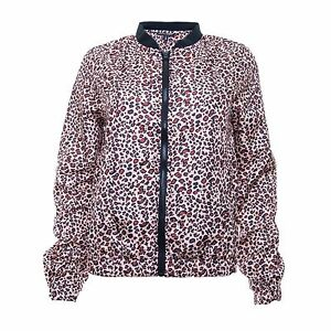751346d9fb8e Women's Leopard Print Bomber Jacket with Rib Collar by Brave Soul   eBay