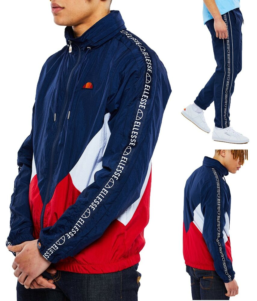 Ellesse Retro Navy Shell Track Top, Ou Piste Pantalon Mix Match-vendu Séparément