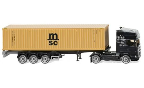 "Scania #052349 1:87 /""MSC/"" Wiking container autoarticolati NG"