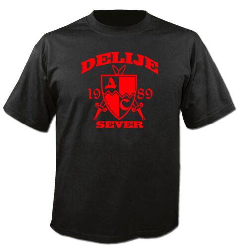 T-Shirt con Cappuccio Maglione Felpa Crvena Zvezda delije hooligan BELGRADE SERBIA