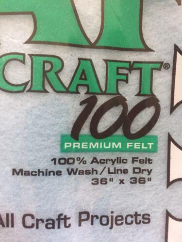 "sky blue New in Package- Craft 100 Premium Felt 36/""x36/"" Summer sky color."