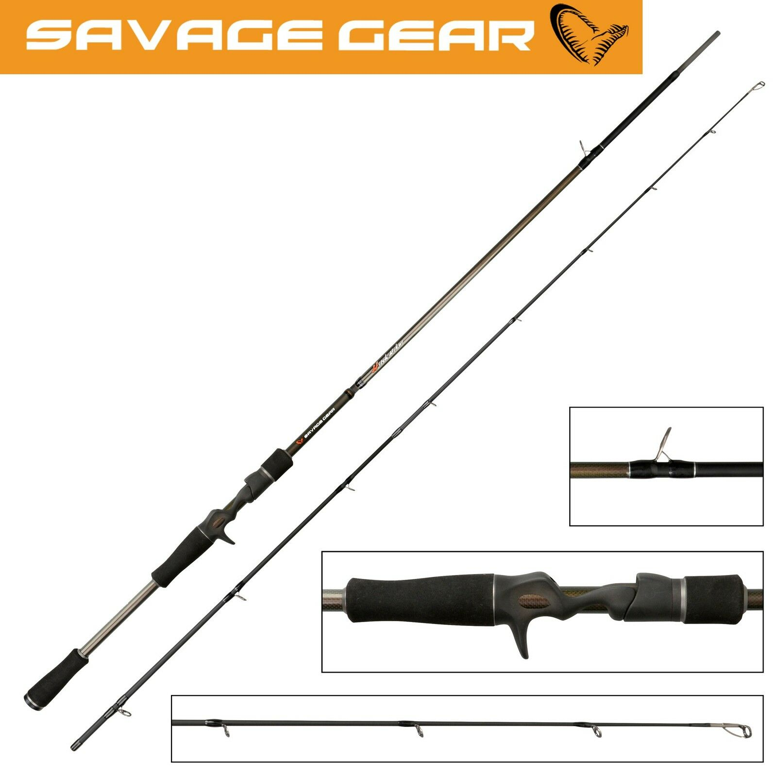 Savage Gear Hitch Hiker Trigger 213cm 40-80g Reiserute, Spinnrute für Hecht