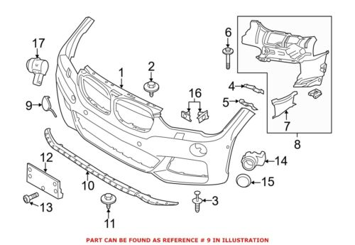 For BMW Genuine Tow Hook Cover Front 51118072810